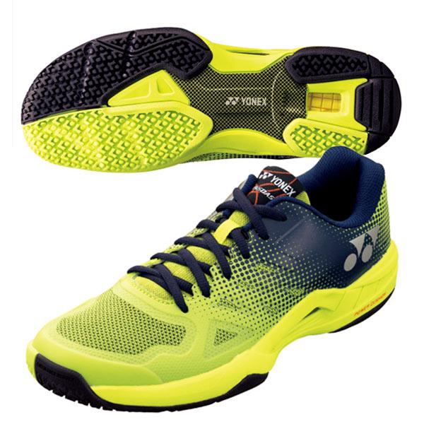 ヨネックス テニス シューズ パワークッション エアラスダッシュ2 GC (オムニ・クレーコート用) ライム×ネイビー (SHTAD2GC・319)
