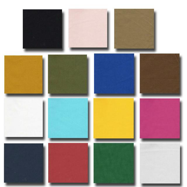 アウトレット価格 日本製 手芸の定番 針のとおりもよく 扱いやすい生地デス 綿シーチング無地 105センチ幅 超目玉 1m単位切り売り 15色あります