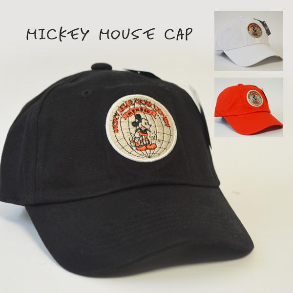 ミッキー柄ワッペンのローキャップ Disney ディズニー キャップ 帽子 ブランド 至上 ミッキー レディース 丸ワッペン ベースボールキャップ 無料サンプルOK オールシーズン ワンポイント ディズニーローキャップ メンズ