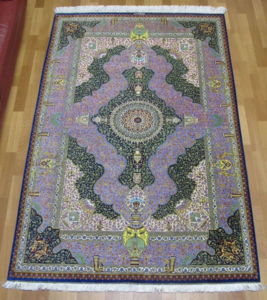 ペルシャ絨毯クム・ジャムシーディ 200×131cm
