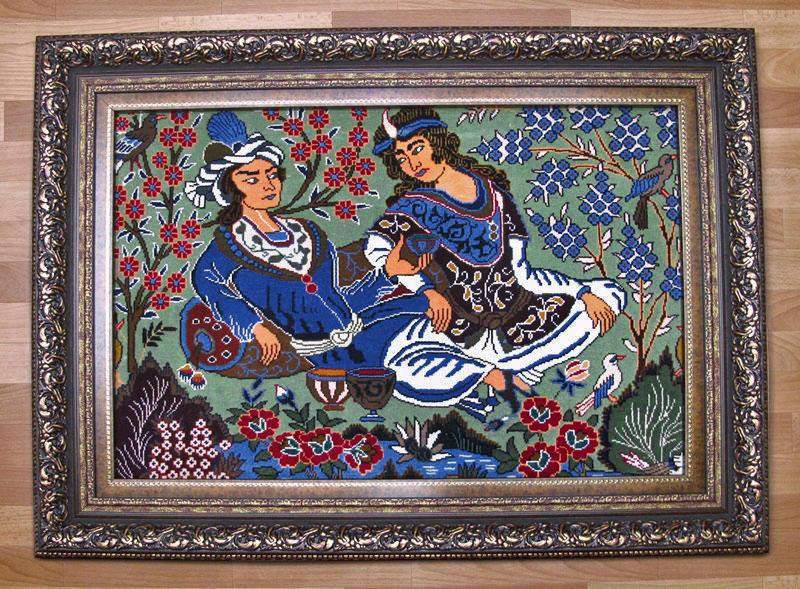 ペルシャ絨毯 カシュマール 絵画じゅうたん 122×91cm【30%OFF 8/8まで】