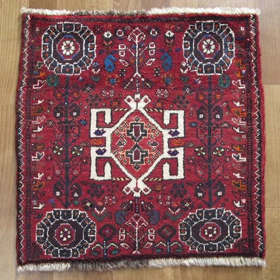 カシュガイ絨毯 座布団サイズ 59×60cm