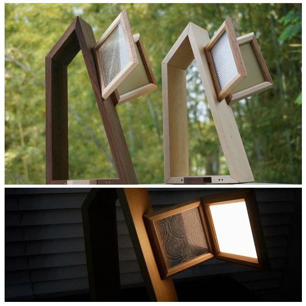 【LED照明】Feel Lab (フィールラボ) PACO Desk Light 有機EL照明 (メープル・ウォールナットの2色から選ぶ) 「送料無料」 想いを繋ぐ百貨店【TSUNAGU】