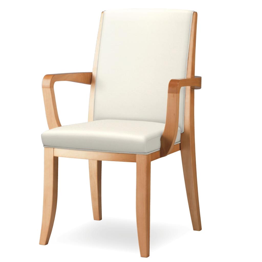 ダイニングチェア 肘付き 木製椅子 肘掛 レザー スタッキングチェア 福祉 介護 食堂 福祉施設 病院 待合室 いす イス R-RST【SS0602】