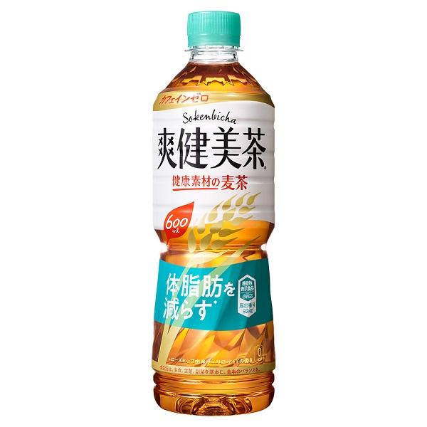 【工場直送】【送料無料】爽健美茶 健康素材の麦茶 600mlPET 24本入り 2ケース 48本