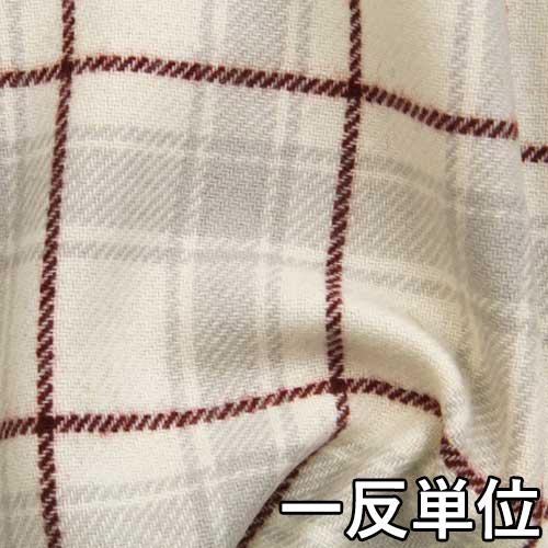【ウール】【FK20000】【柄物】【送料無料】【ウール生地】カラー全1色【一反単位の販売】【1/10チェック】FK20000☆コートやジャケット、スカートに最適。バッグなど小物にも。