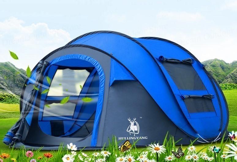 メーカー公式ショップ 投げるだけで楽々簡単設置 テント NEW HUI LINGYANGテント 3~4人用 防水 防風