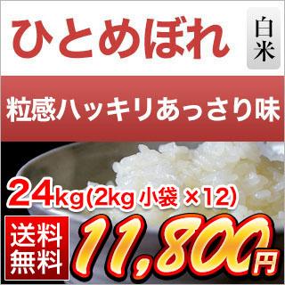 30年産 岩手県産 ひとめぼれ〈特A評価〉 24kg(2kg×12袋) 白米【送料無料】
