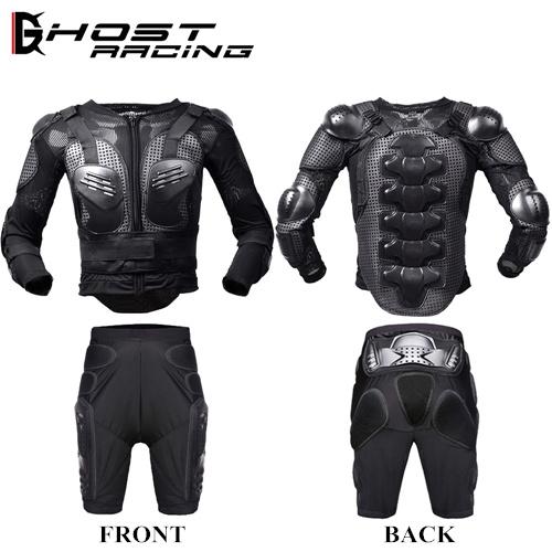 バイクウェア プロテクター 上下セット 背中 胸 肘 肩 腰 バイク GHOST RACING 耐衝撃 通気性