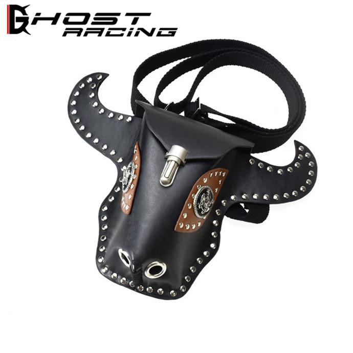 GHOST RACING バイク バッグ ホルスターバッグ メンズ ウエストポーチ ウエストバッグ 男女兼用 旅行 便利