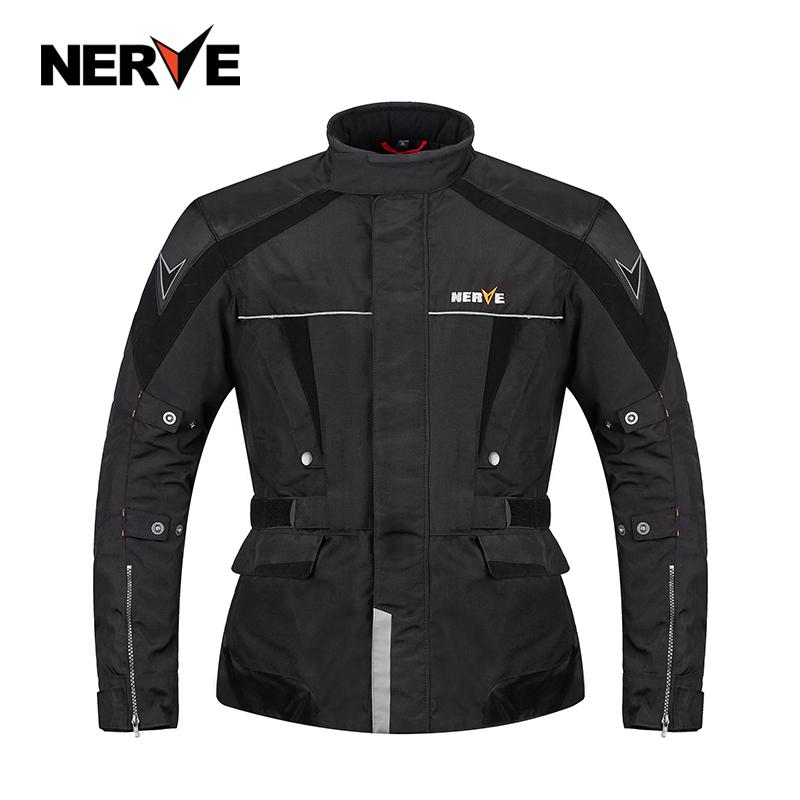 NERVE バイクジャケット ライダースジャケット バイク ウェア プロテクター装備 ナイロンジャケット バイクウエア 防風 防寒 3シーズン