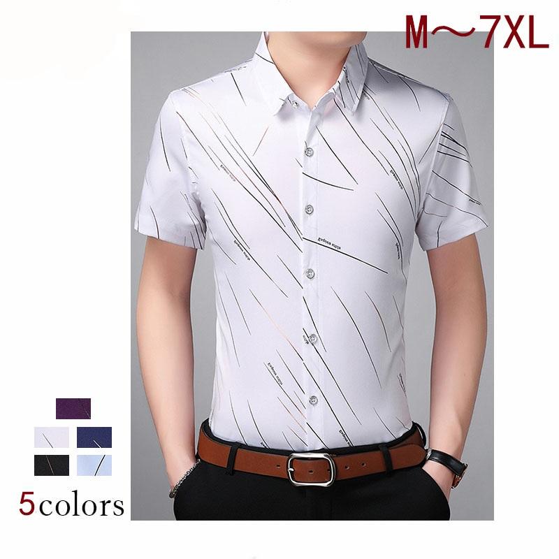 M~7XL 大きいサイズ チェック柄 メンズ 花柄 半袖シャツ リネンシャツ ツ 世界の人気ブランド シャツ メンズファッション トップス 60代 50代 袖 40代 紳士シャツ カジュアルシャツ 紺 半袖 安心と信頼 水色 ネイビー