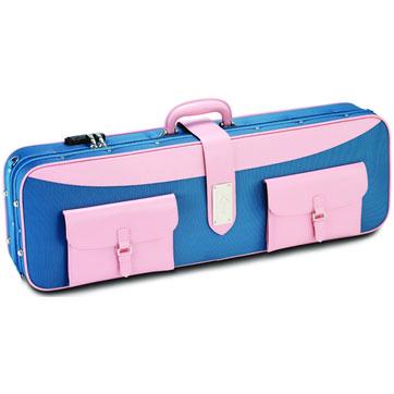 ポケットが付いたアンティーク調なデザイン!  ラング バイオリンケース CK-P77 ブルー/ピンク 【本州・四国・九州への配送料無料】