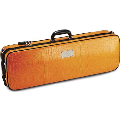 買い物 上品なワニ皮調合成皮革モデル ≪正規輸入品≫ ラング バイオリンケース ダークブルー SA54 日本メーカー新品 オレンジ