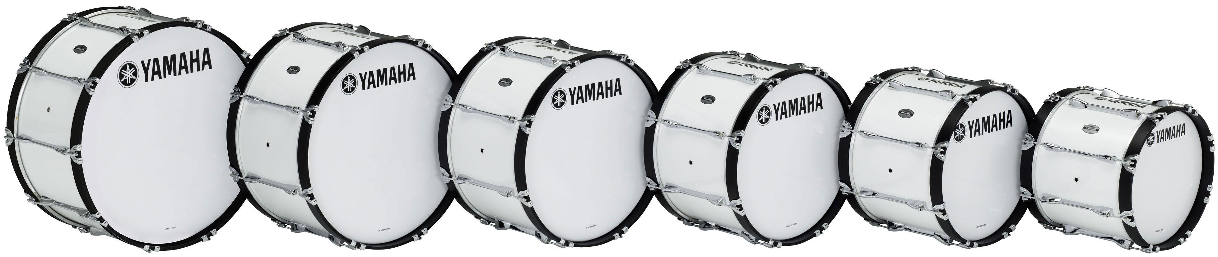 ヤマハ マーチングバスドラム MB-6326 ホワイト 【本州・四国・九州への配送料無料】