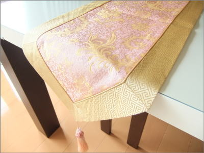 [silk Table Runner Pink] Table Liner Interior Chinois Chinoiserie  Restaurant Hotel Coordinates High Quality Chinese China Miscellaneous Goods  Horse Mackerel ...