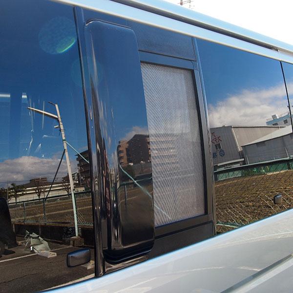 車用網戸 銀黒 カーアミド 車網戸 バイザーセット 1枚 ハイエース 200系 1型 2型 3型 プライバシーネット 車中泊 グッズ 虫除け アウトドア キャンプ 外装 パーツ 便利