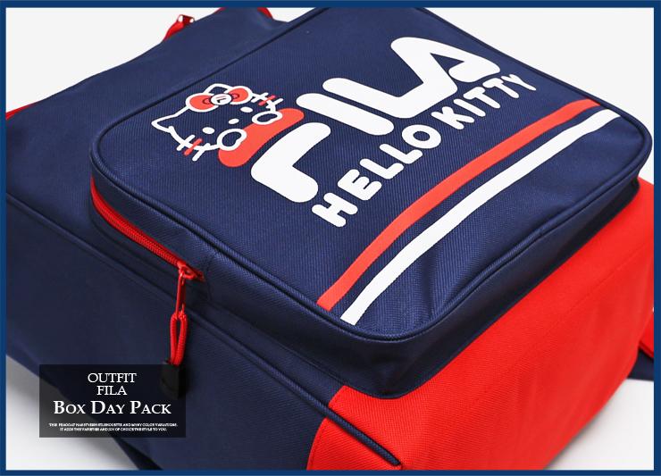 FILA 斐樂框背包你好基蒂基蒂基蒂-陳方形背包背包女孩女士休閒 / 三麗鷗的女孩上學 /FK1002 02P03Sep16