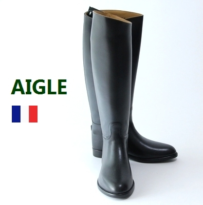 Aigle-France / France army long boots GR×WH BOX / dead stock / ECUYER Ecija / Puss in boots riding shoes / AIGLE