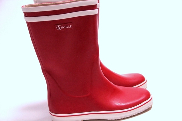 AIGLE rain boots mens & ladies / Malouine BT / line/dead stock and Aigle Aigle long shoes