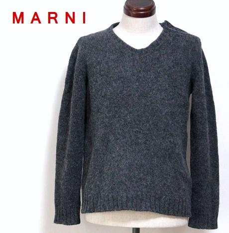 マルニ MARNI / ショルダー ボタン ニット トップ 【中古】 長袖 Vネック セーター / #