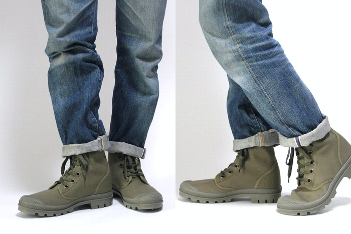 Czech Army canvas combat boots and mountain long high-cut sneaker / military dead stock