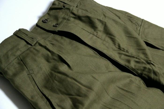 法国军队罕见 20 世纪 50 年代 M47 老式货物裤子 / 品牌新军队军事死股票