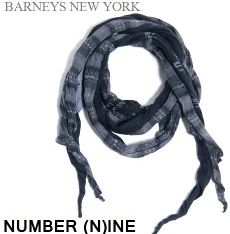 ナンバーナイン / バーニーズニューヨ-ク / Wストール 【中古】【DM便】 ショール マフラー アクセサリー / NUMBER (N)INE / Barneys New York / #