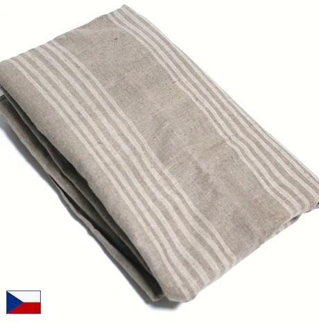 Outlet For Green Czech Military Linen Horizontal Stripe Box Sheet