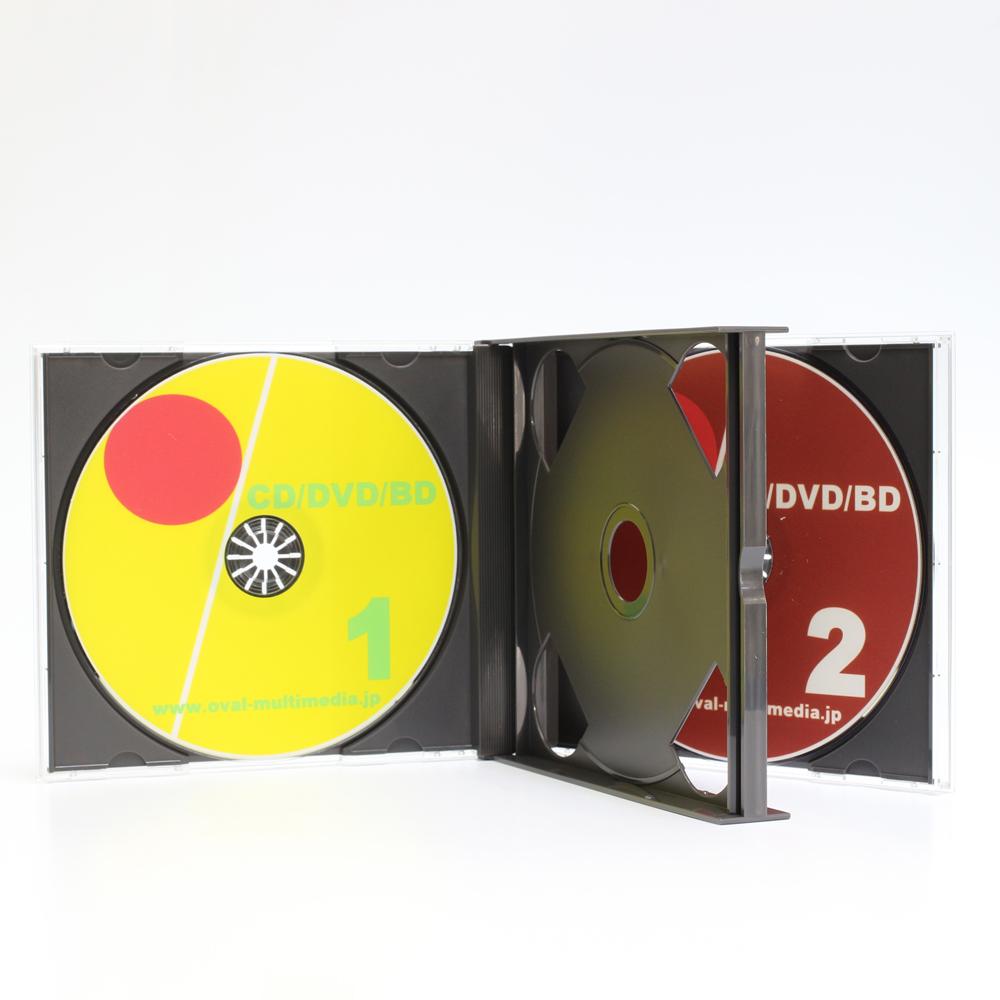 日本製に変更しましたPS24mm厚2枚収納マルチケースブラック 50個 CD DVDケース