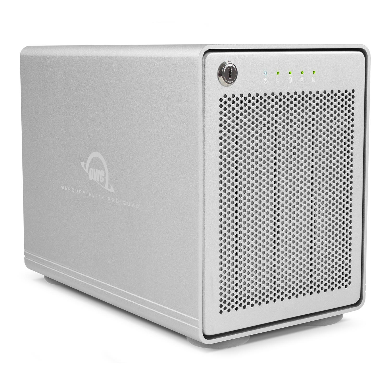 【国内正規品】OWC Mercury Elite Pro Quad (OWC マーキュリー エリート プロ クワッド) 4ドライブベイ / USB 3.1 Gen 2 / RAID 0,1 (8.0TB)