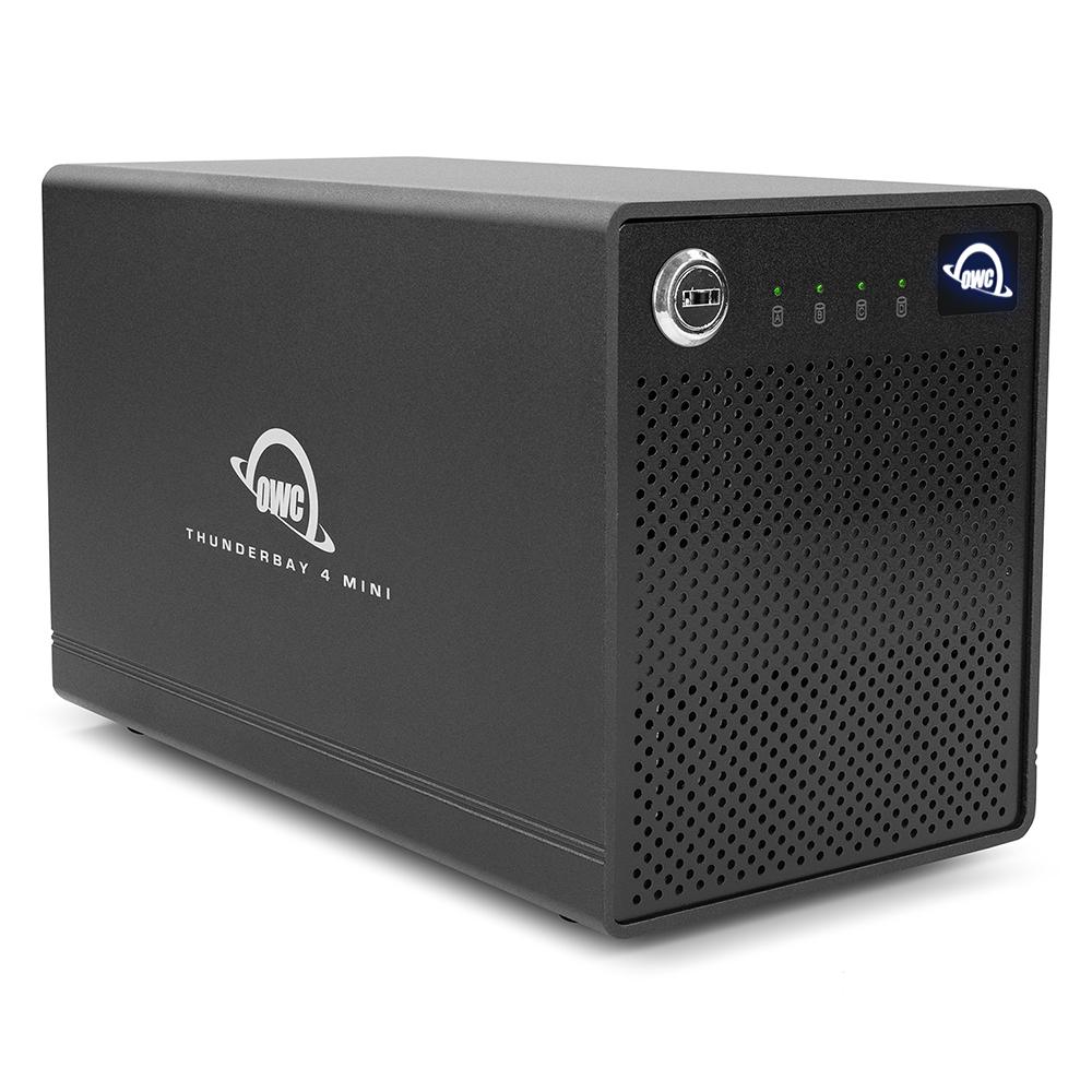 【国内正規品】OWC ThunderBay 4 mini(OWC サンダーベイ 4 ミニ)2.5インチドライブ4ベイ / Thunderbolt 3 ×2ポート / 外付けドライブケース (SSD 8.0TB, RAID 0,1,4,5,10)