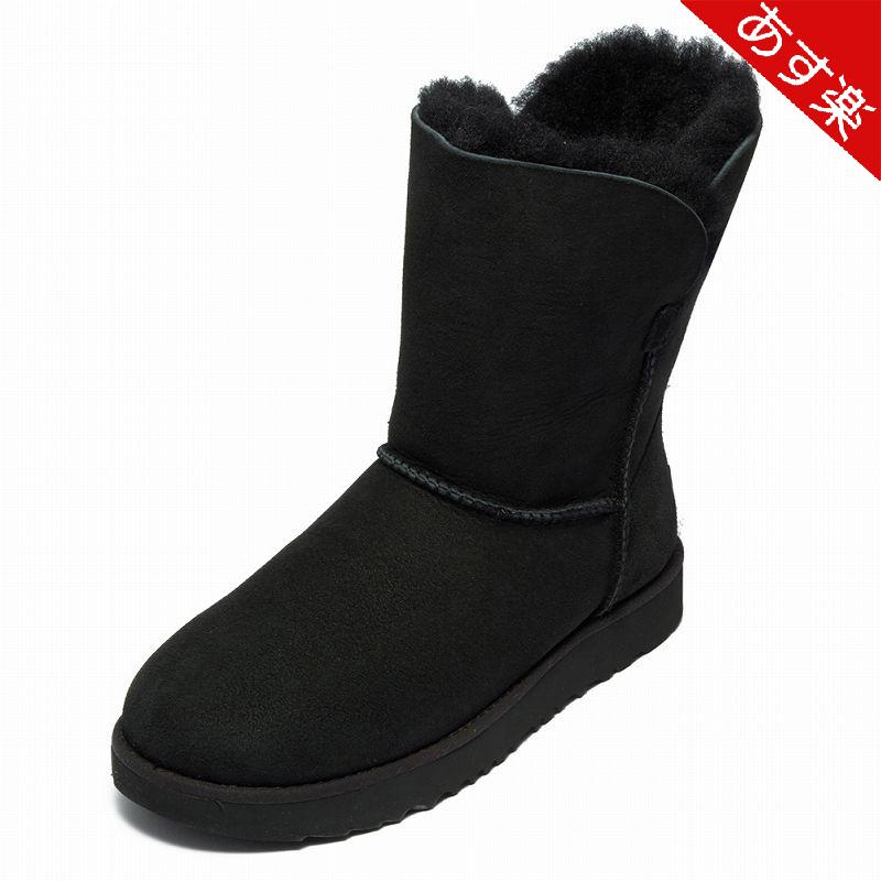 UGG ブーツ CLASSIC CUFF SHORT クラシック カフ ショート 1016418 レディース BLACK BLK 2018AW アグ 【新品・送料無料】