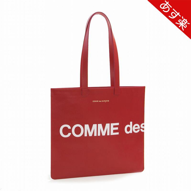 【店内全品ポイント5倍!5/7朝まで】 2020年春夏新作 コムデギャルソン トートバッグ メンズ HUGE LOGO TOTE BAG SA9001HL RED COMME des GARCONS 【新品・送料無料】