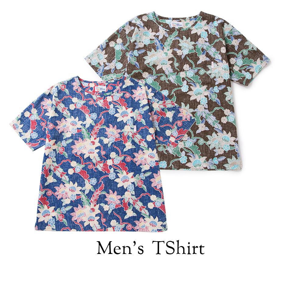 メンズ Tシャツ(男性用) 半袖「SARASA」 【PAIKAJI×reyn spooner】全2色 Men's Tshirt