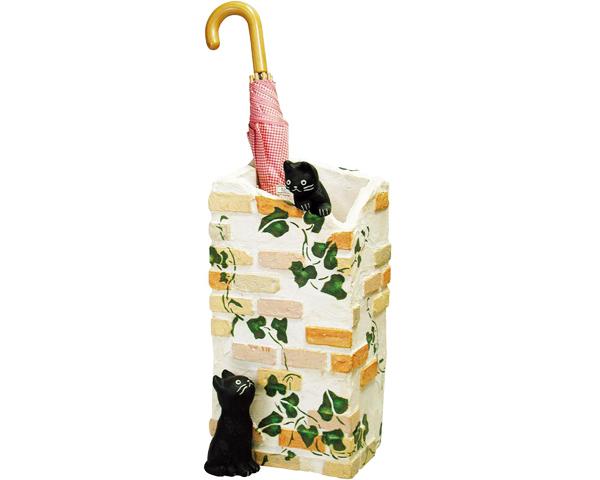 ラ・カンパーニュ 傘立て SCZ-0402傘たて ねこ ネコ 黒猫 雑貨 レンガ調 アンブレラスタンド 玄関 エントランス かわいい 新生活 neko2019