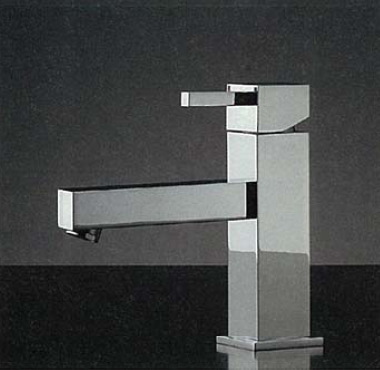 183-088 RASATO/ スクエアレバー混合栓(ショートレバー)|デザイナーズ洗面所蛇口
