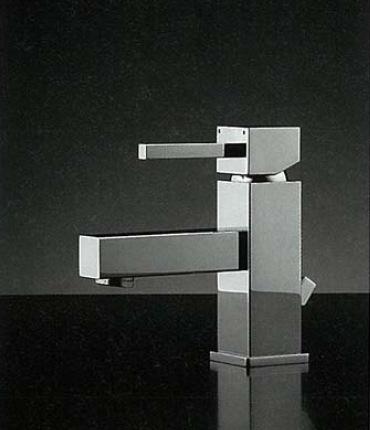 183-146 RASATO / スクエアレバー混合水栓(ポップアップ対応型)|デザイナーズ洗面所蛇口