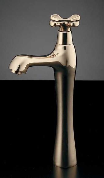 置き型の手洗い器におすすめの蛇口 716-824-CG hana トール立水栓(ゴールド) 旧品番 716-826-13