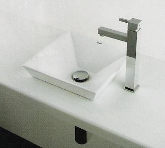 493-085 半埋め小型手洗器B スクエア手洗鉢