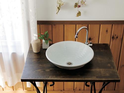 "手洗器【美濃焼手洗い鉢""雲母""】青白磁/seihakuji(Small,φ320)|和風手洗い器"