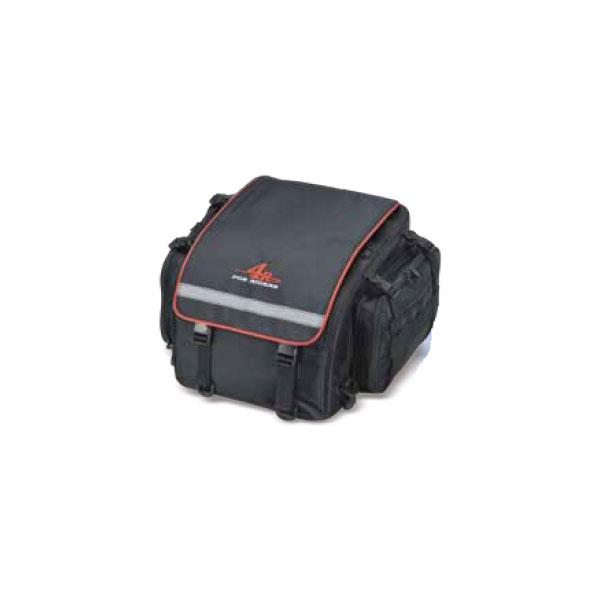 (クーポン配布中)キジマ ツーリングシートバッグ ブラック/レッド 350(+100)x350x250 FR-A00026 【送料無料・北海道・沖縄除く】