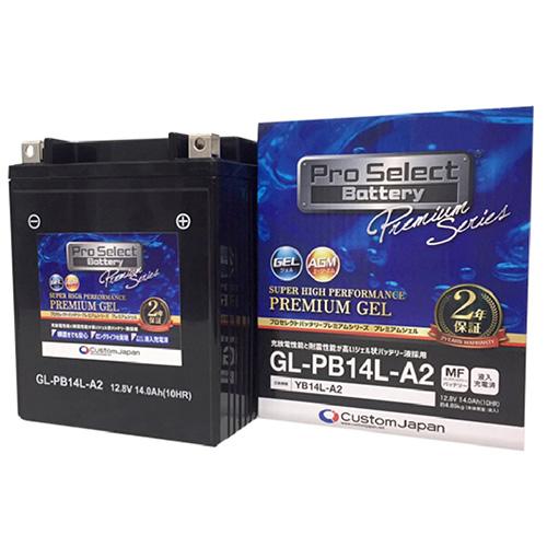 液漏れ防止 電解液がゲル化していますので 横置きにしても液漏れの心配が少 PSB133 国内正規総代理店アイテム GL-PB14L-A2 YB14L-A2 互換 液入充電済 ジェルタイプ :Pro Battery プロセレクトバッテリー Select 輸入
