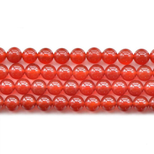 【壊れにくい高品質タイプ】★連売り★ 約10mm 丸珠 アゲート レッド [Agate Red] 赤色 《kren-aget-rd-10》【クリスタル神戸】