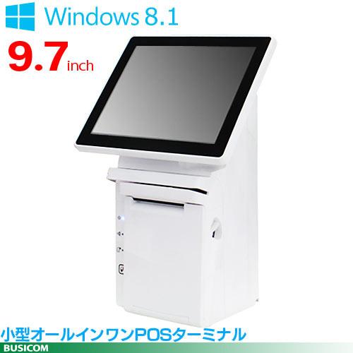 即納可 小型オールインワンPOSターミナル/プリンタ内蔵 Seav-10(Win8.14GB64GB/SSD)BUSICOMロゴ入(背面)【代引手数料無料】♪