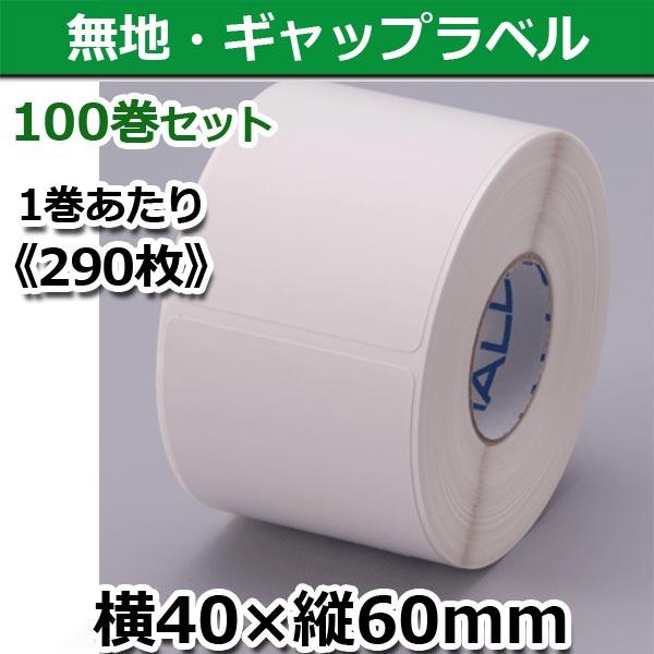 【新盛(HALLO)】TokiPri用ハローラベル 40T60SG 無地 横40×縦60mm(290枚)100巻セット♪