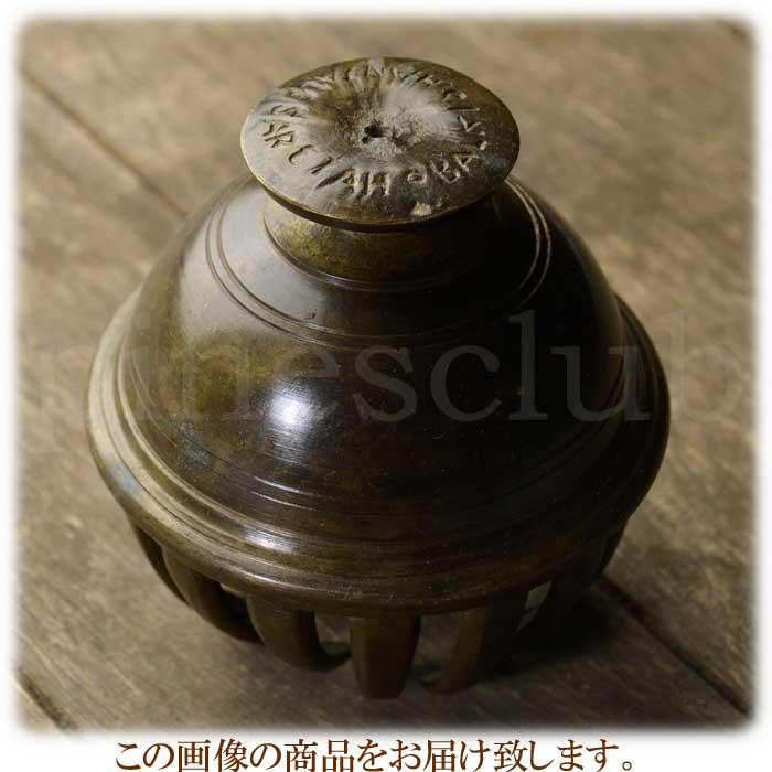 エレファントベル 象の鈴 一点物 直径約10.5cm 重さ約1.0kg インド 真鍮製 MGD-O-BELL-501