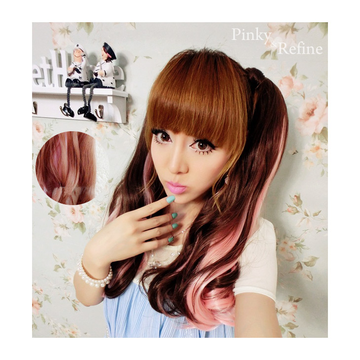 Pinky Refine Wig 2 Velcro Twin Tails Wig