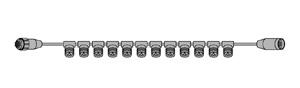 【送料無料】【ジェフコム/イルミネーション】SJ-S06-BF LEDルミネーション(連結タイプ) LEDカーテンフォール専用ストリングベース JAN:4937897116865