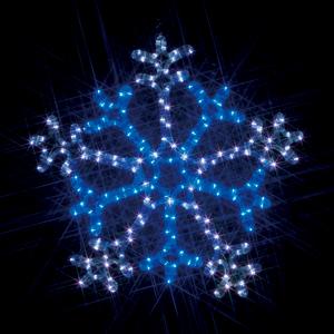 【送料無料】【ジェフコム/イルミネーション】SJ-C103WB-N LEDルミネーション(連結タイプ) LEDモチーフ 雪の結晶 (2色点滅 白・青) JAN:4937897127328